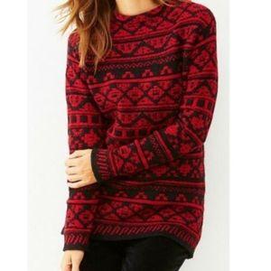J. Jill Pullover Sweater Fair Isle Nordic Jacquard